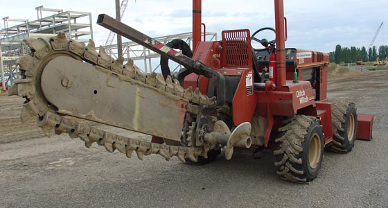 [ Image: The Ditch Witch Trench Digging Machine ]