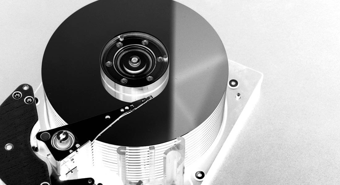[ Image: inverted photo of a hard drive ]