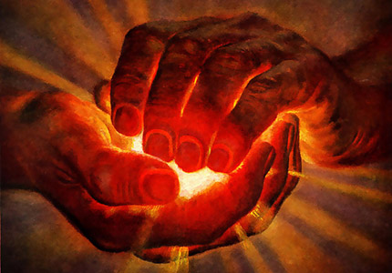 [ Image: Illustration of two hands holding a glowing object ]