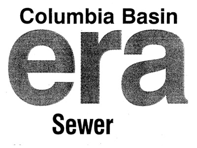 [ Image: Humorously cropped portion of the front-page article: 'Columbia Basin Era Sewer' ]