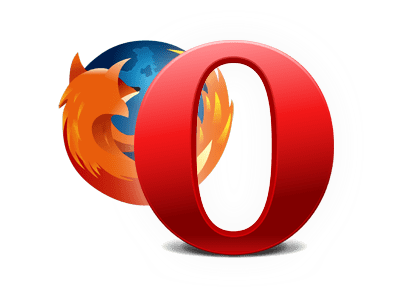 [ Firefox and Opera Logos ]