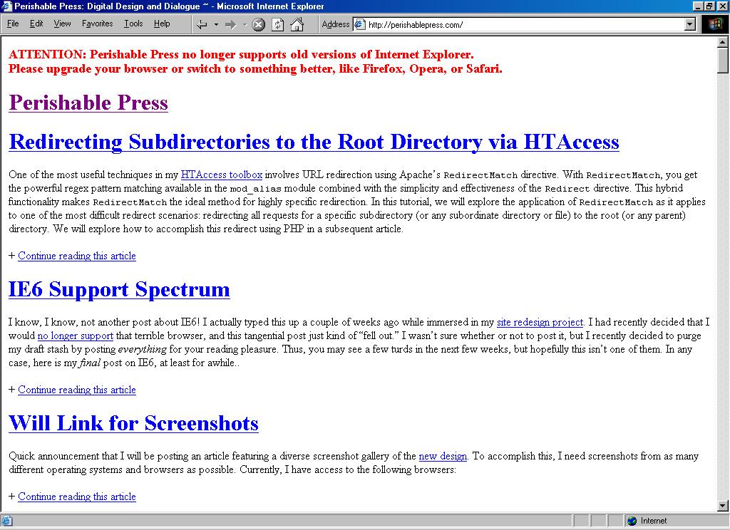 Perishable Press Quintessential Screenshot Gallery