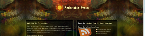 Perishable Press on Vista Internet Explorer