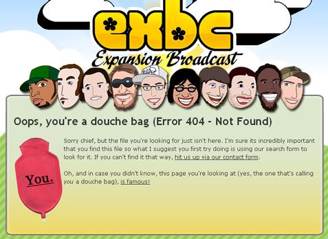 [ Screenshot: http://www.expansionbroadcast.com/404 ]