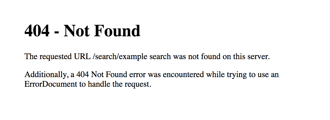 [ Screenshot: Default Apache 404 Error Page ]