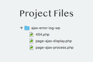 [ Ajax Error Log WP - Project Files ]