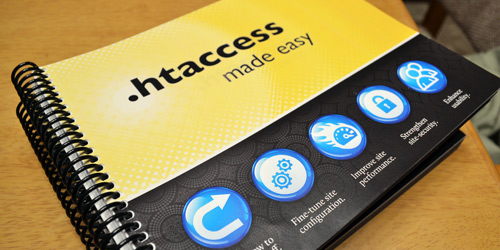 [ .htaccess made easy - photo of printed books ]