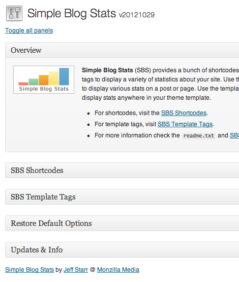 WordPress Plugin: Simple Blog Stats : Perishable Press