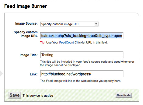 [ SFS Open Tracking - FeedBurner as Open Tracking Image ]