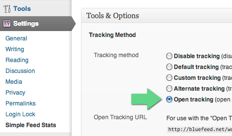 [ SFS Open Tracking - Tools & Options ]