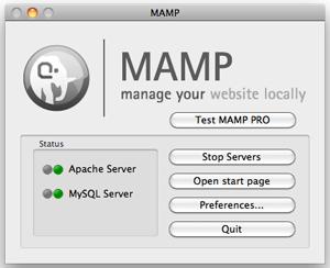 Mamp Options Panel