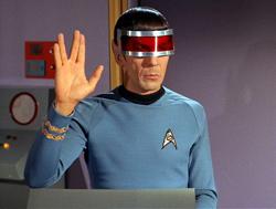 S'chn T'gai Spock (wearing visor)
