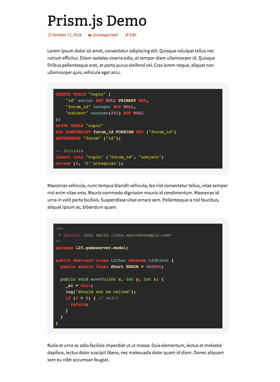 [ Prismatic Syntax Highlighting ]