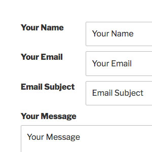 [ Contact Form X: Classic Theme ]