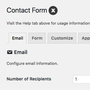 [ Contact Form X: Plugin Settings ]
