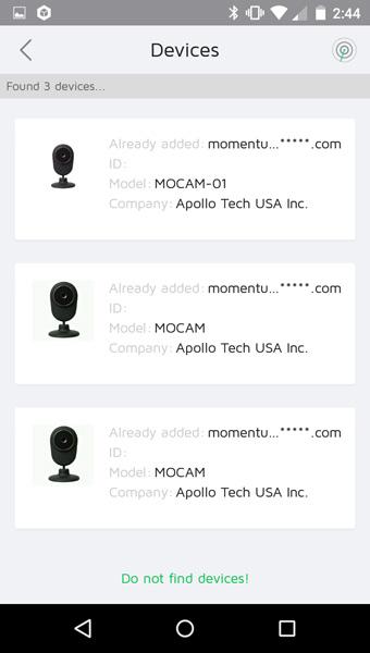 [ Momentum Camera App ]