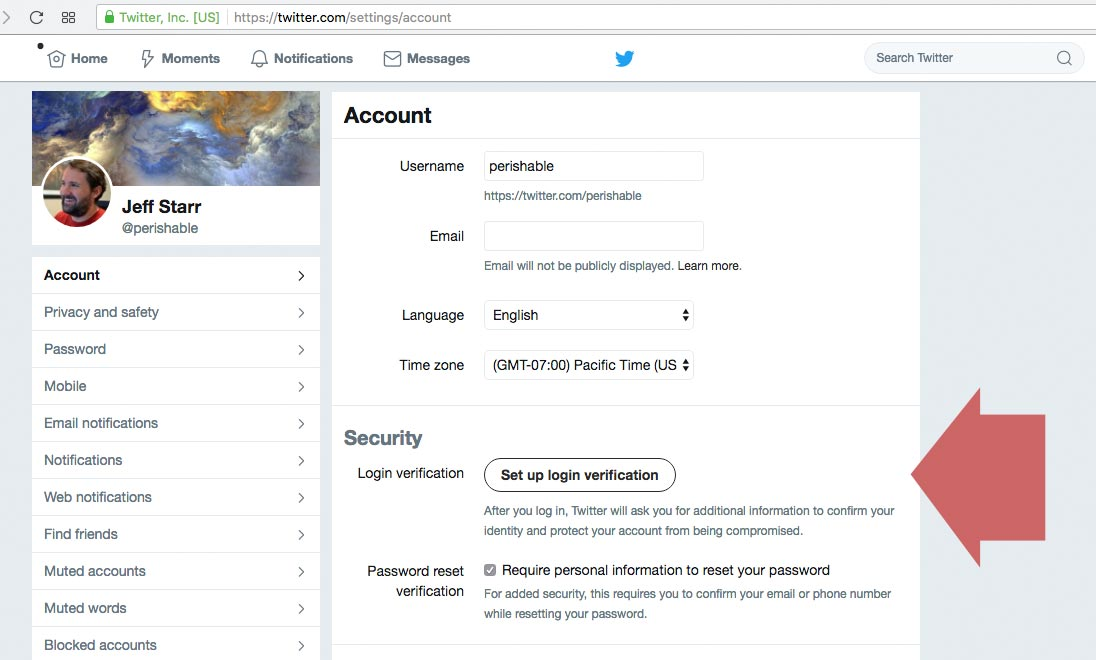 Twitter Login Verification Bug | Perishable Press