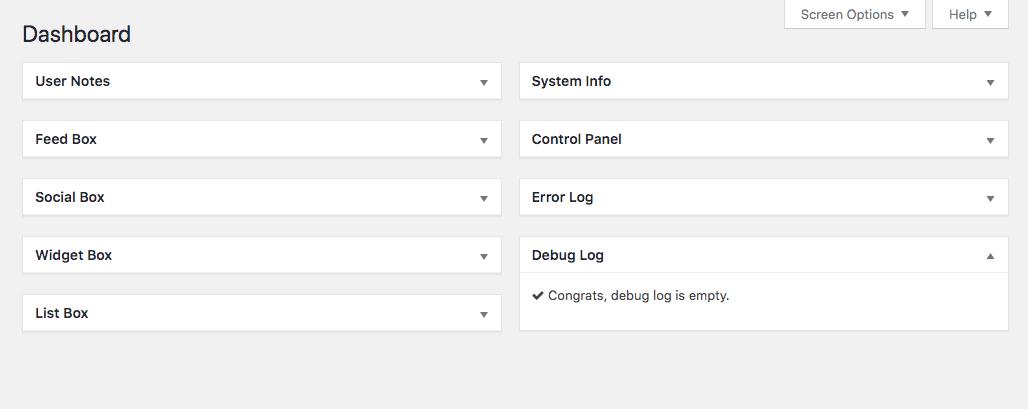 [ Dashboard Widgets Suite - Custom Widget Names ]