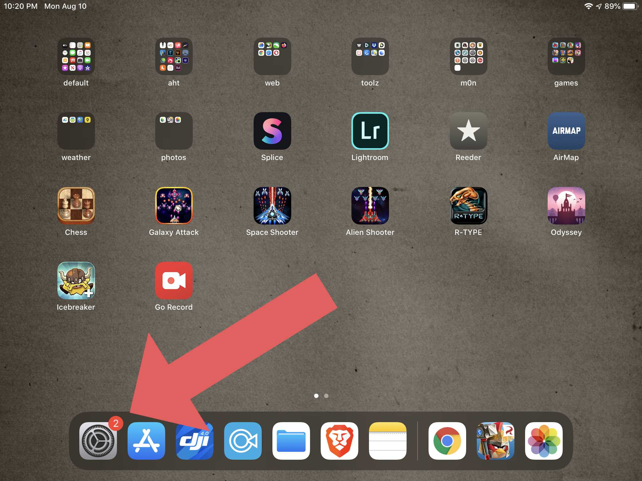iPad Home Screen showing more nags