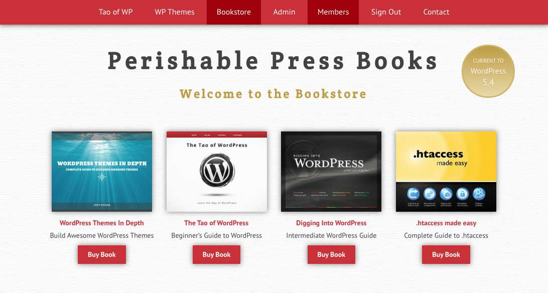 [ Perishable Press Books - Original Design (screenshot) ]