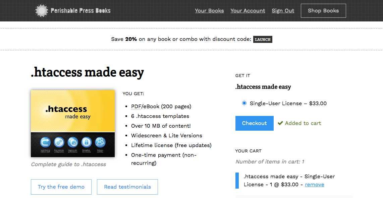 [ Perishable Press Books (screenshot) ]