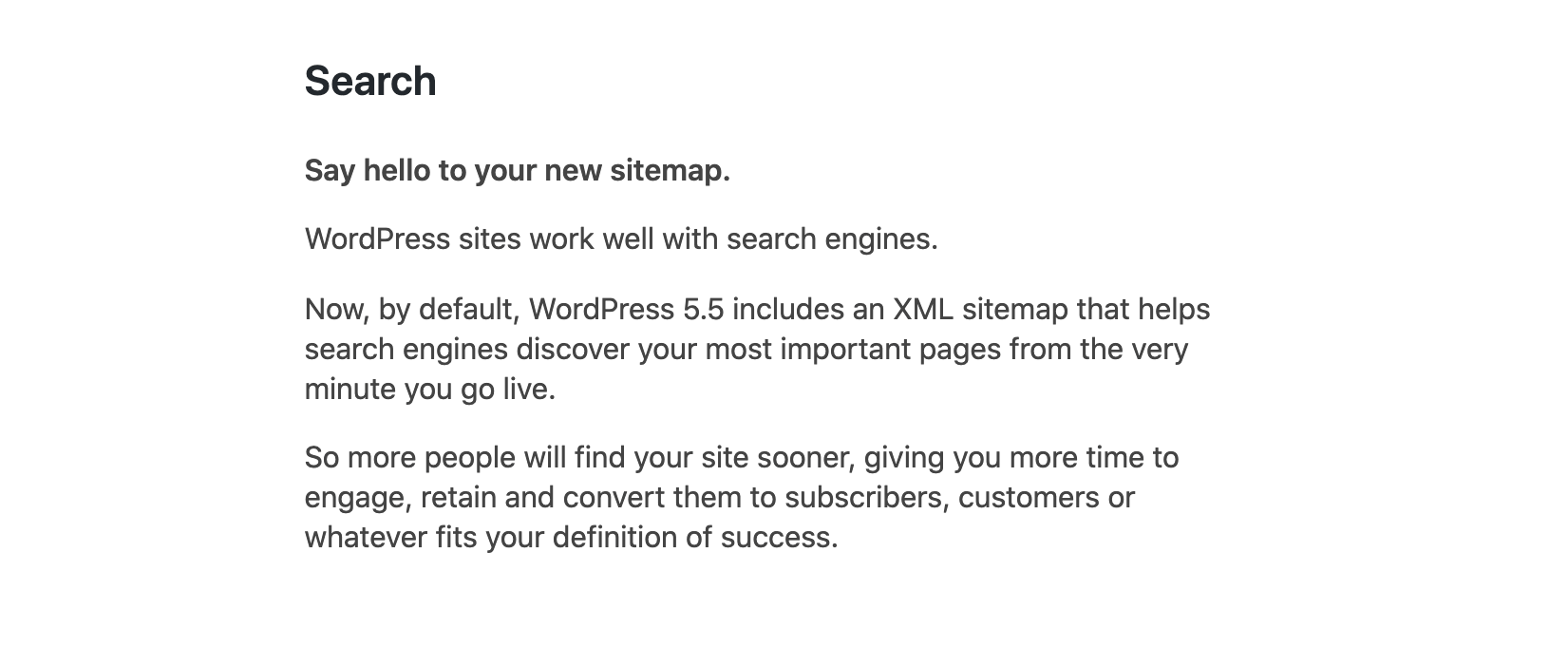 WordPress Plugin: Disable WP Sitemaps