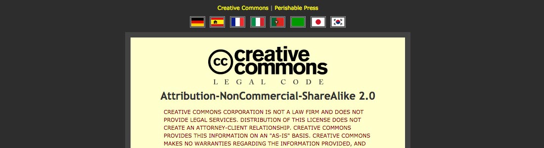[ Screenshot: Creative Commons Code - Remixed ]