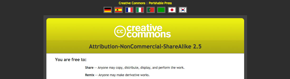 [ Screenshot: Creative Commons Deed - Remixed ]